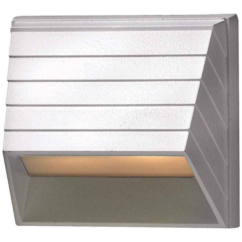 """Hinkley Afterhours 3 1/2"""" Wide White Low Voltage Deck Sconce"""