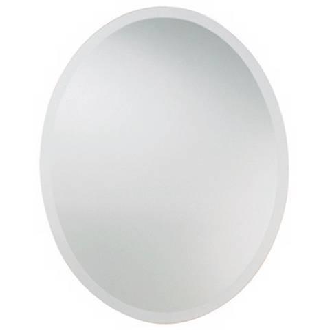"""Uttermost 36 """" High Frameless Oval Wall Mirror"""