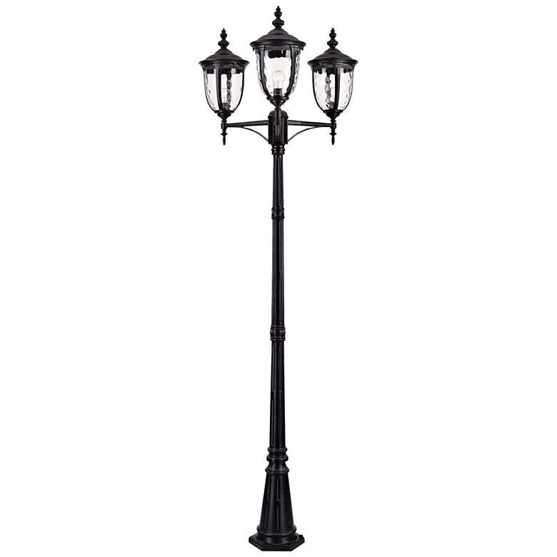 "Bellagio 96"" High Black Outdoor 3-Light Street Lantern"