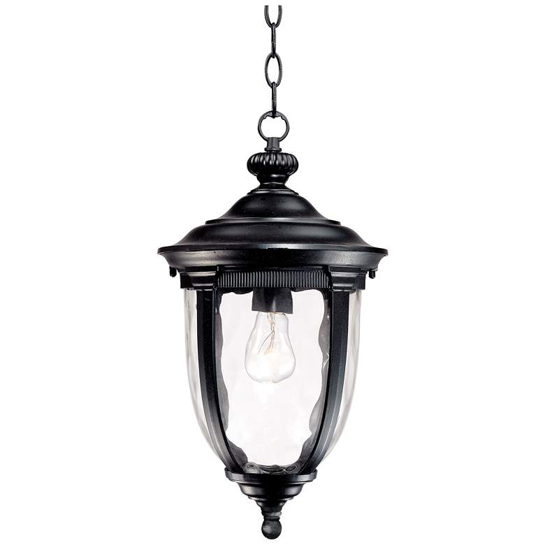 "Bellagio 18"" High Texturized Black Outdoor Hanging Light"