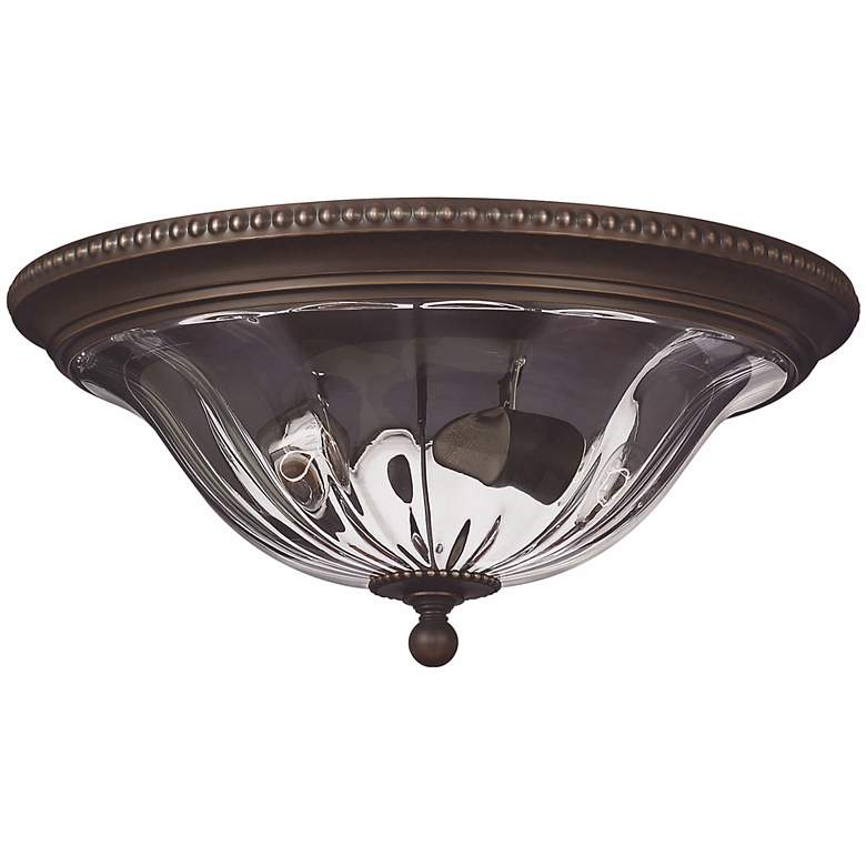 "Cambridge Collection Bronze 16 1/4"" Wide Ceiling Light"