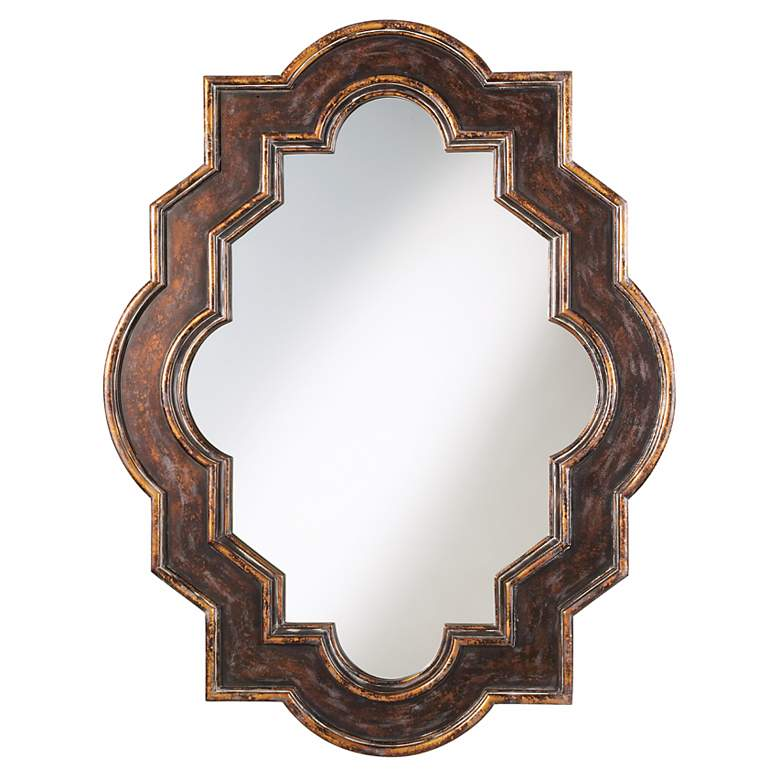 """Casbah Weathered Bronze 45"""" High Wall Mirror"""