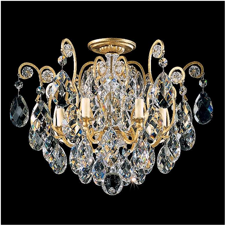 "Schonbek Renaissance Collection 20"" Crystal Ceiling Light"