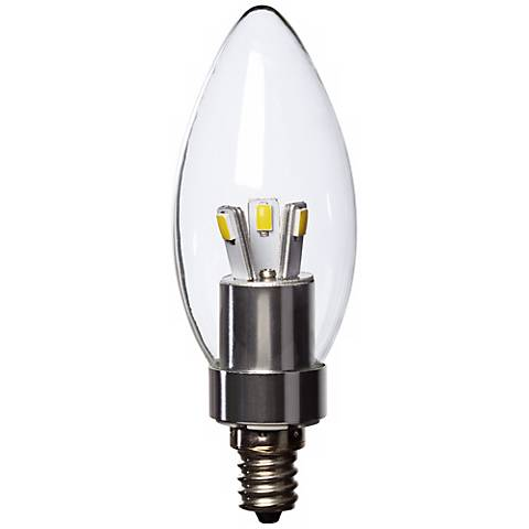 25W Equivalent Tesler Clear 3W LED Non-Dimmable Candelabra