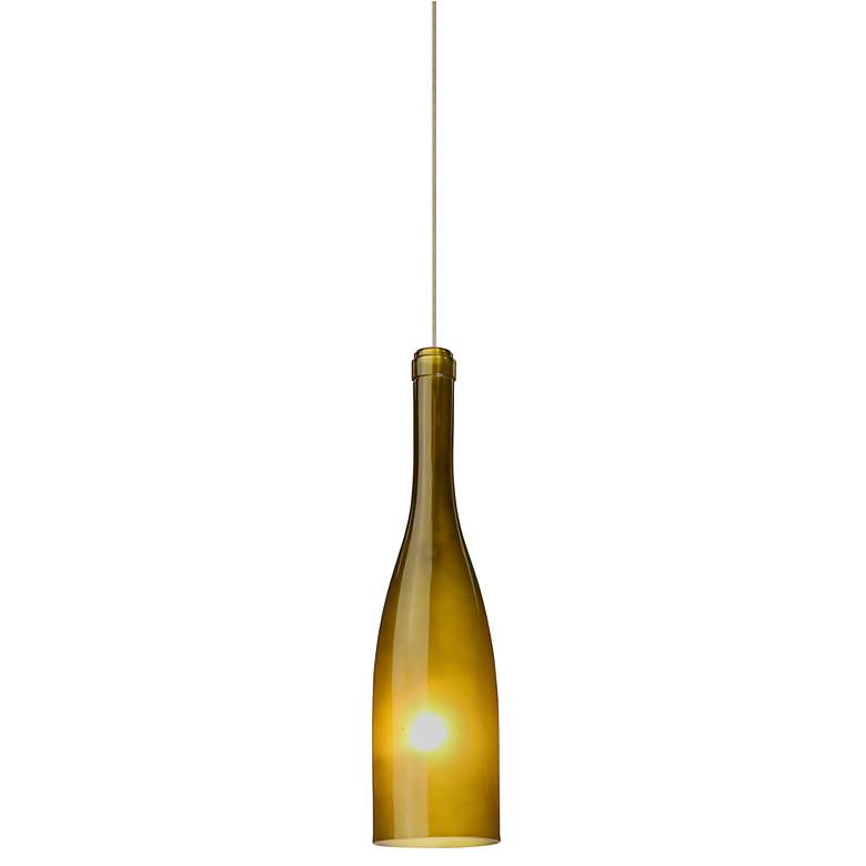 "Besa Botella 3"" Wide Green-Frost Mini Pendant"