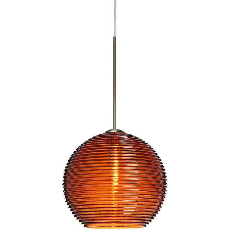 "Besa Kristall 6"" Wide Amber Mini Pendant"