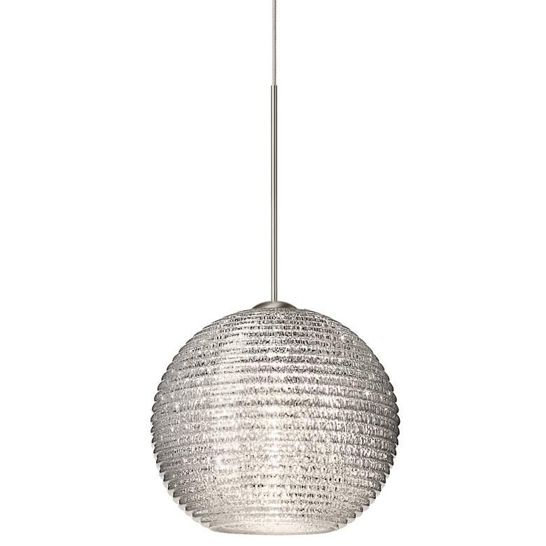 """Besa Kristall 6"""" Wide Glitter Globe Mini Pendant Light"""