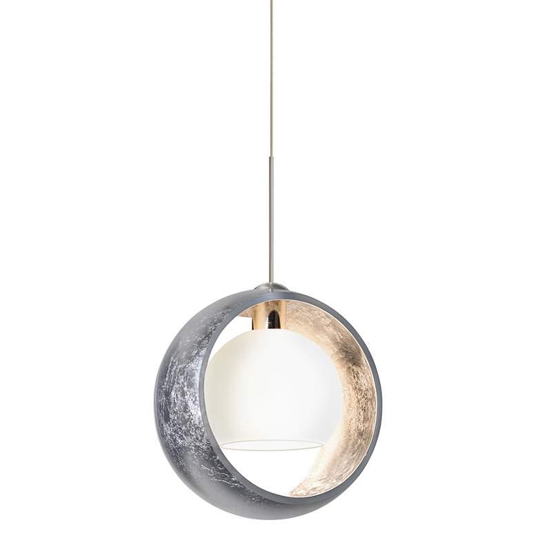 """Besa Pogo Collection 6 1/4"""" Wide Silver Mini Pendant"""