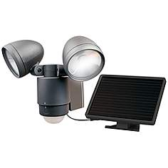 Outdoor led security lights exterior lighting lamps plus dark bronze dual head solar led outdoor security light aloadofball Images