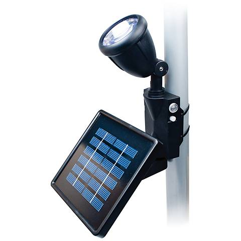 Black Outdoor Solar LED Flagpole Flood Light