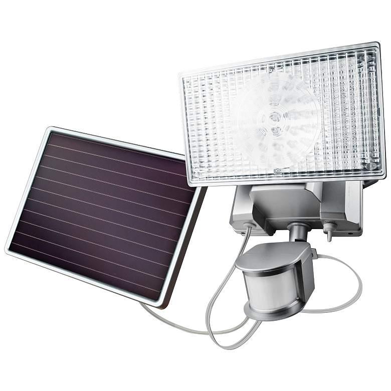 Silver Solar 100 LED Outdoor Security Flood Light