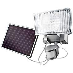 Silver Solar 100 Led Outdoor Security Flood Light