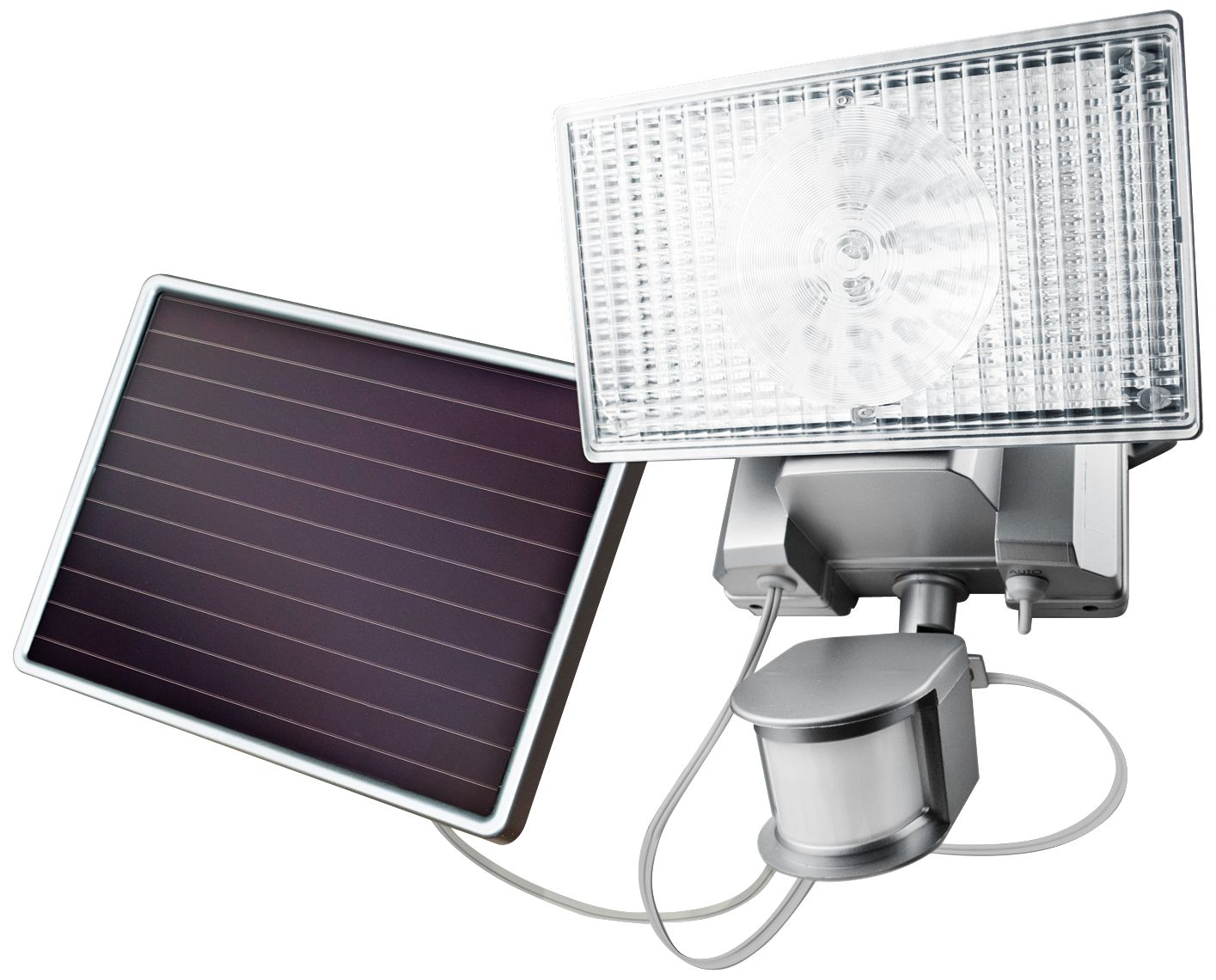 Charmant Silver Solar 100 LED Outdoor Security Flood Light