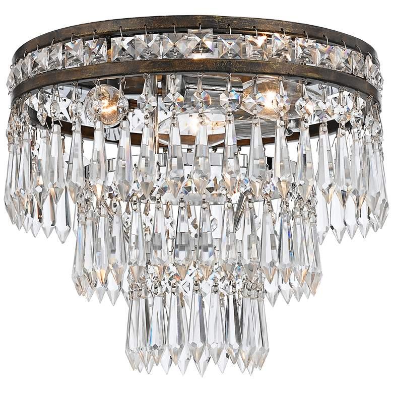 "Crystorama Mercer 11"" Wide English Bronze Ceiling Light"