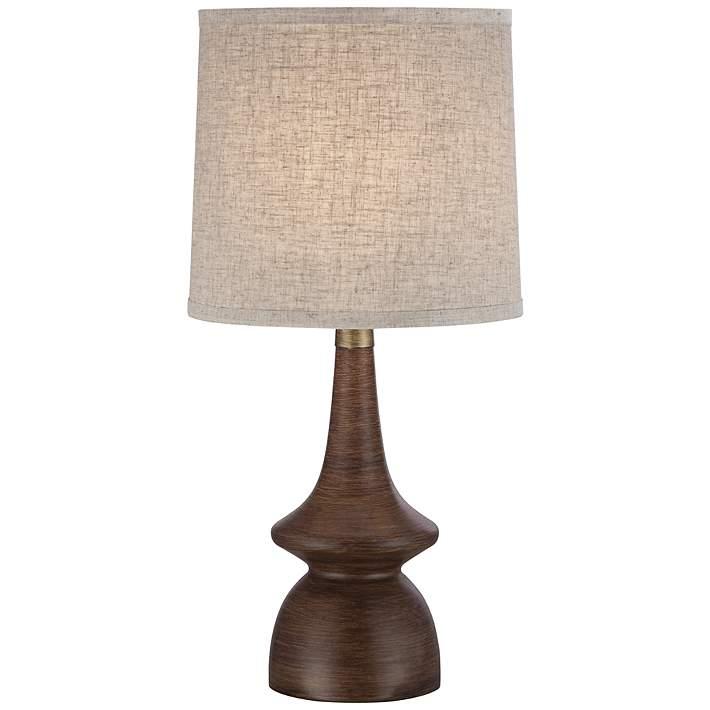 Rexford Mid Century Modern Walnut Table Lamp