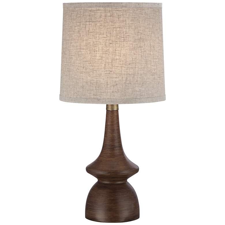 Rexford Mid-Century Modern Walnut Table Lamp