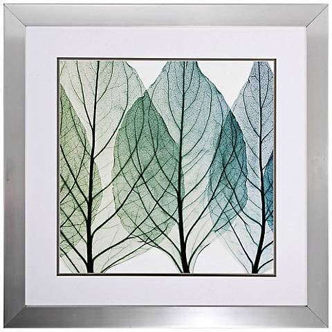 "Celosias Leaves II 30"" Square Framed Leaf Wall Art"