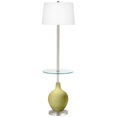 Linden Green Ovo Tray Table Floor Lamp