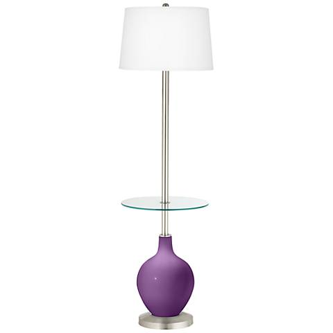 Passionate Purple Ovo Tray Table Floor Lamp