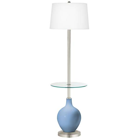 Placid Blue Ovo Tray Table Floor Lamp