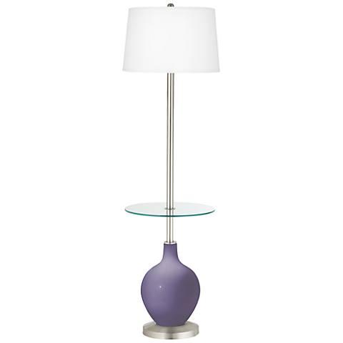 Purple Haze Ovo Tray Table Floor Lamp