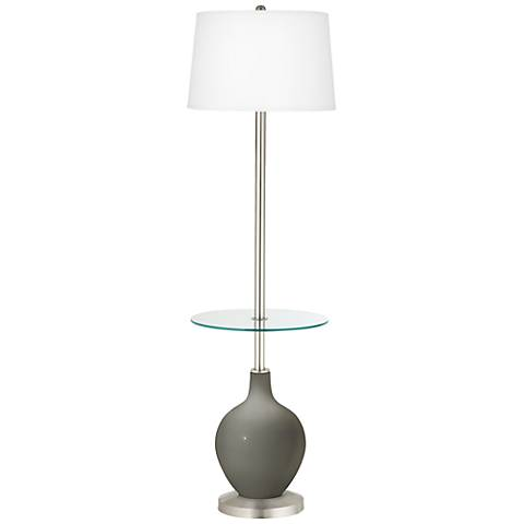 Gauntlet Gray Ovo Tray Table Floor Lamp