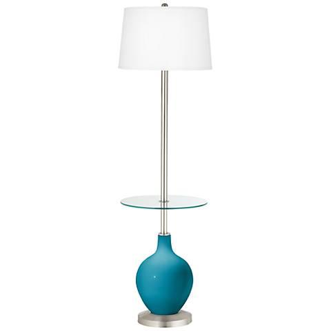 Caribbean Sea Ovo Tray Table Floor Lamp
