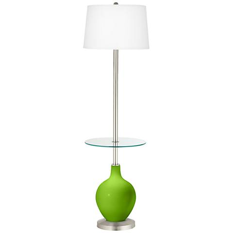 Neon Green Ovo Tray Table Floor Lamp