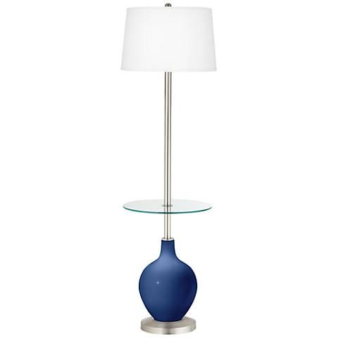 Monaco Blue Ovo Tray Table Floor Lamp