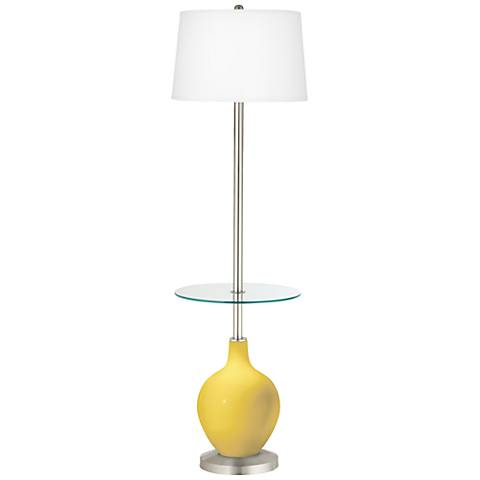 Lemon Zest Ovo Tray Table Floor Lamp