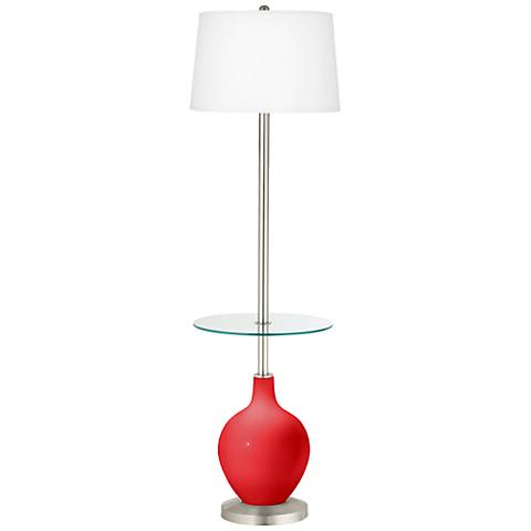 Poppy Red Ovo Tray Table Floor Lamp