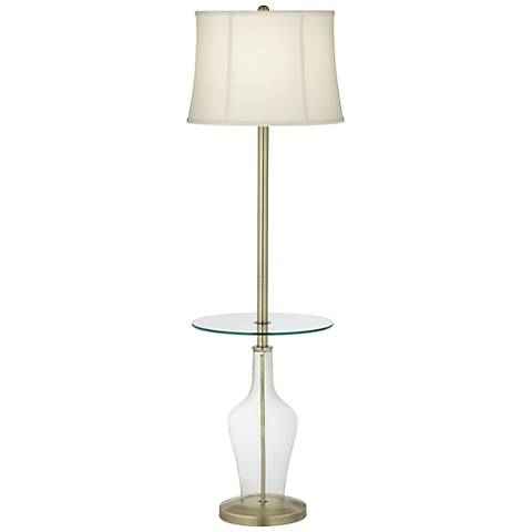 Clear Fillable Anya Tray Table Floor Lamp