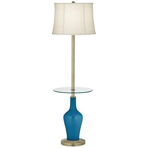 Mykonos Blue Anya Tray Table Floor Lamp