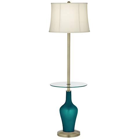 Magic Blue Metallic Anya Tray Table Floor Lamp
