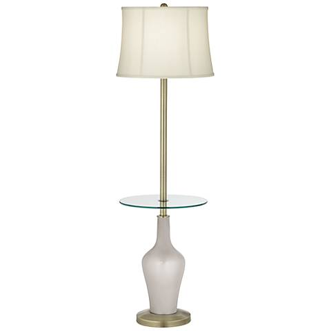 Silver Lining Metallic Anya Tray Table Floor Lamp