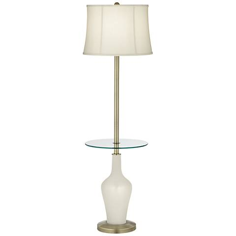 Vanilla Metallic Anya Tray Table Floor Lamp