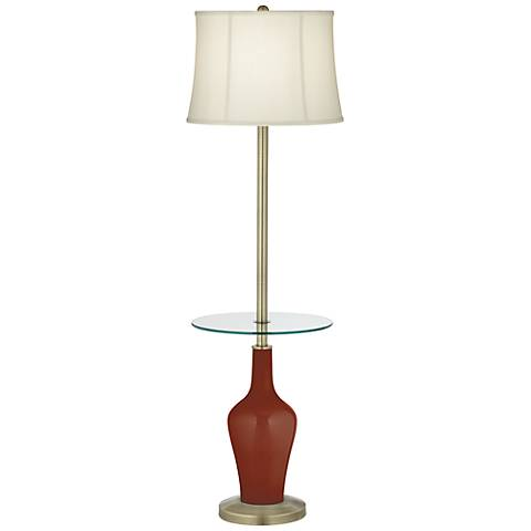 Fired Brick Anya Tray Table Floor Lamp