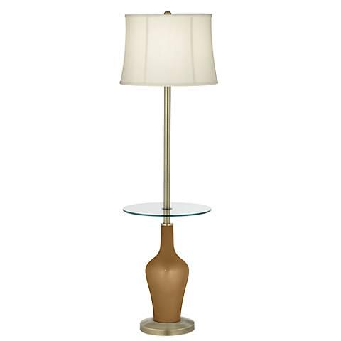 Light Bronze Metallic Anya Tray Table Floor Lamp