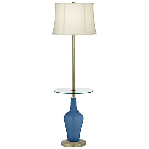 Regatta Blue Anya Tray Table Floor Lamp