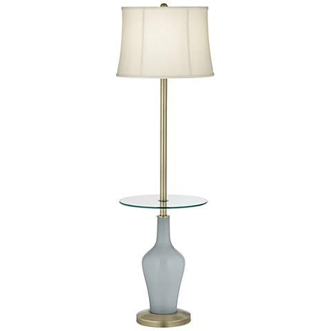 Uncertain Gray Anya Tray Table Floor Lamp