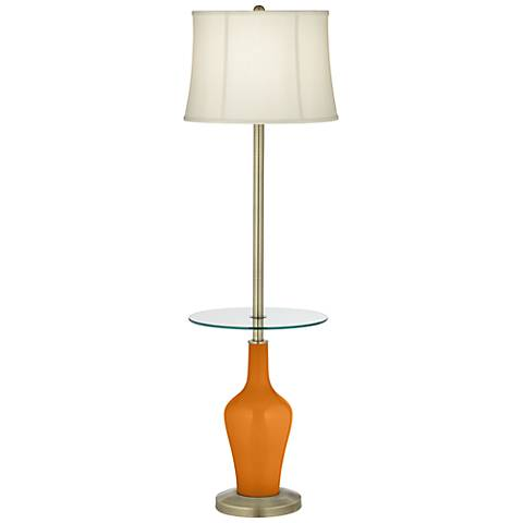 Cinnamon Spice Anya Tray Table Floor Lamp