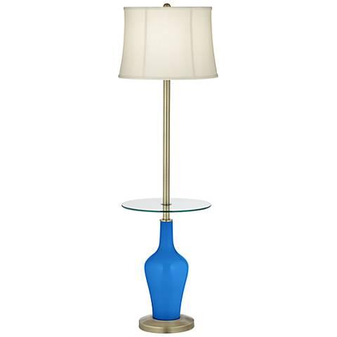 Royal Blue Anya Tray Table Floor Lamp