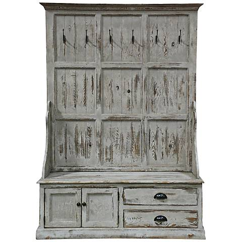 Windsor Distressed Entry Storage Bench