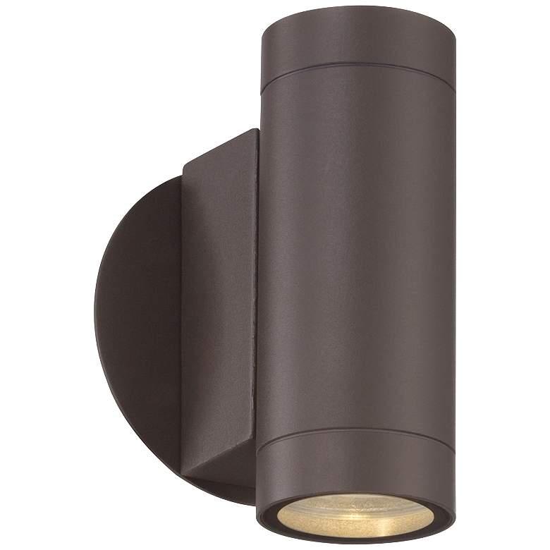 Possini Euro Design Matte Bronze Up and Down Wall Light