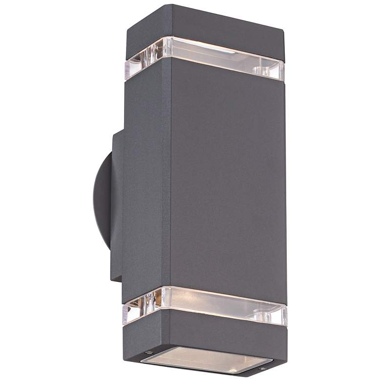 "Skyridge 10 1/2"" High Graphite Up-Down Outdoor Wall Light"
