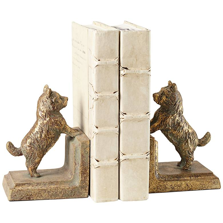 Frisky Dogs Bookends Set
