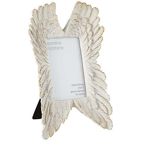 Angel Wings French White 4x6 Photo Frame