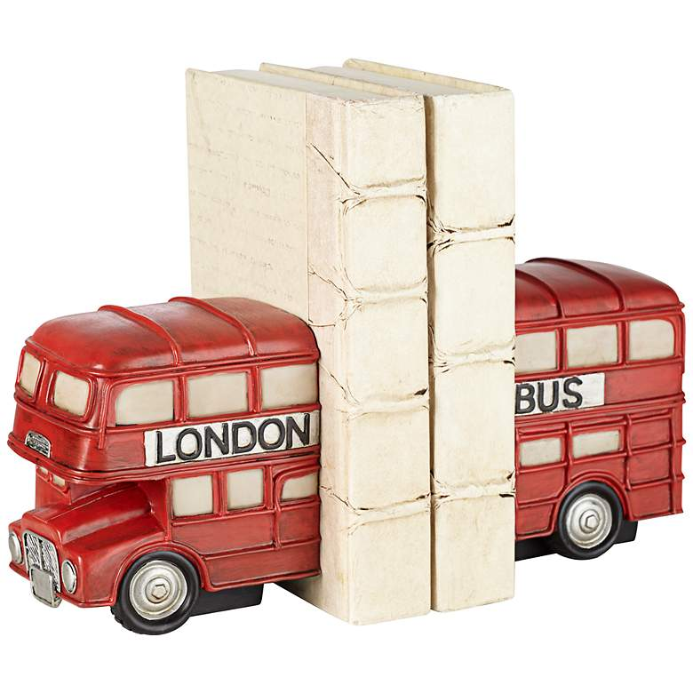 """Red London Bus 6"""" High Bookends Set"""