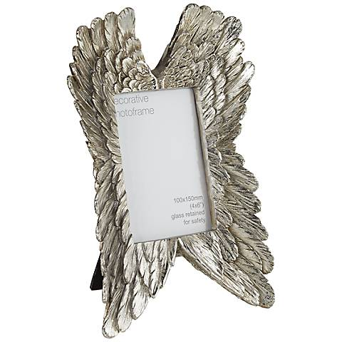 Angel Wings Silver 4x6 Photo Frame