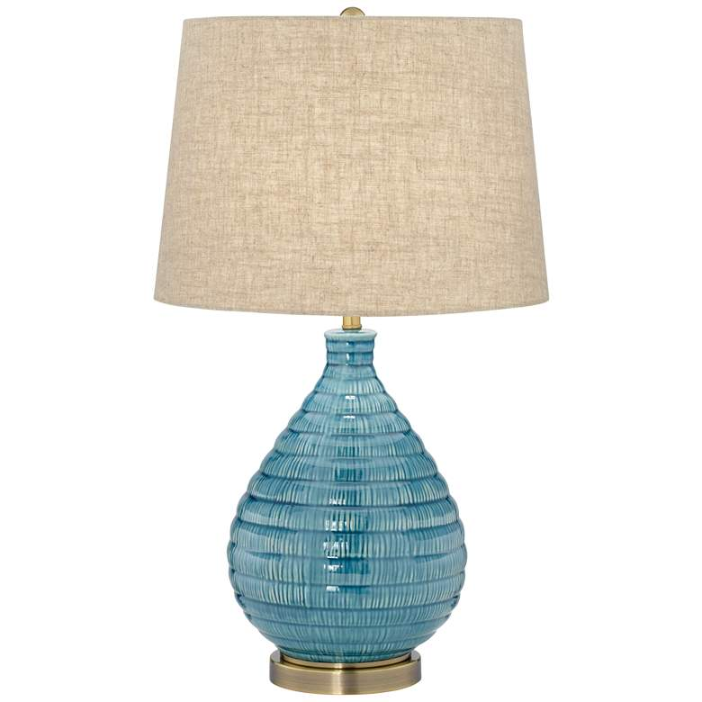 Kayley Blue Ceramic Table Lamp